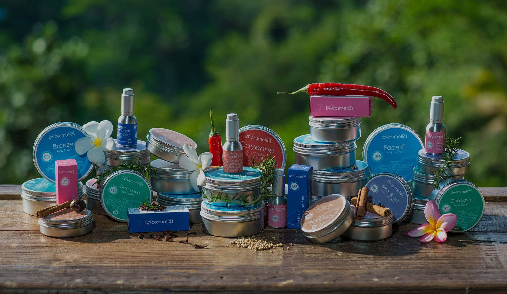 factory natural organic cosmetics based in Bali